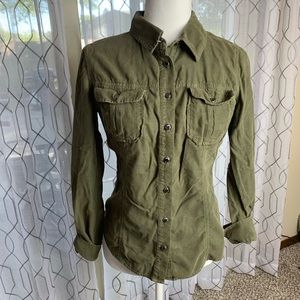 Guess Button Down Corduroy Top Size Small